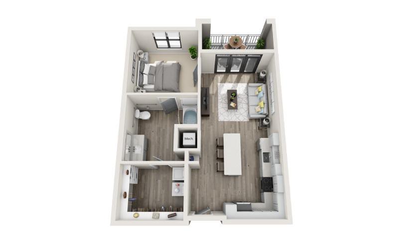Mayfaire Flats_Abbot Floorplan